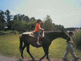 馬に乗りました